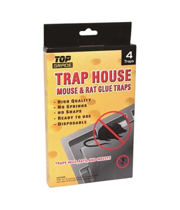 "4pk mouse glue trap 7x4.5""/48s"