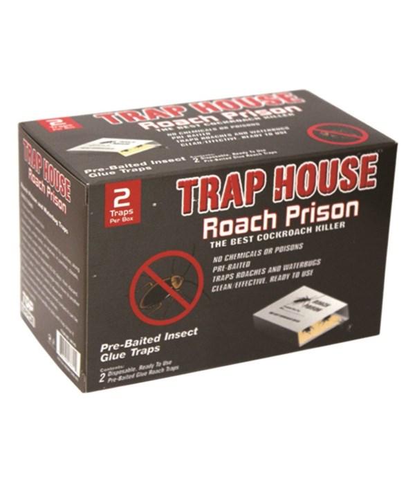 2pk roach prison glue trap 48s