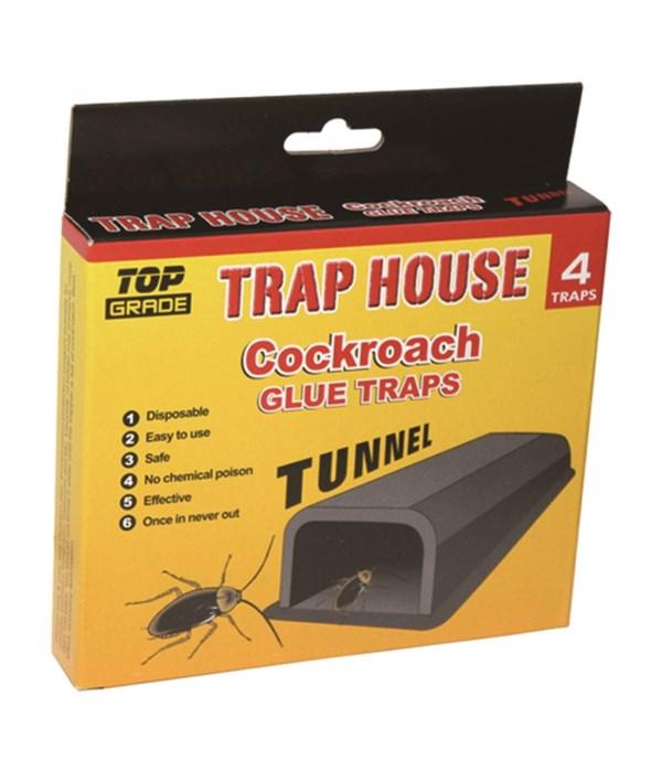 4pk roach tunnel glue trap 48s