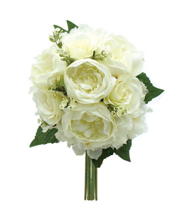 rose bouquets white 12/120s