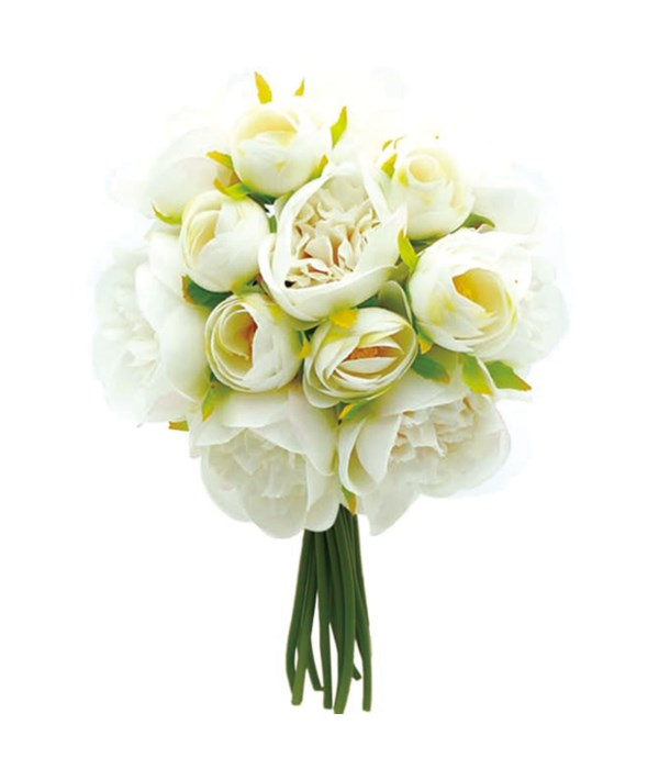 rose bouquet white 12/120s