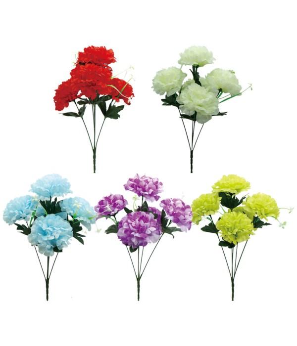 "16""/5-head flower astd clr 72s"
