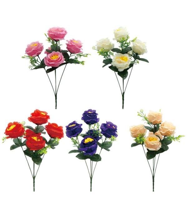 """17""""/5-head flower astd 72s"""