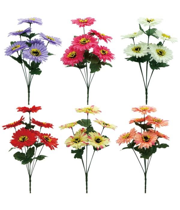 """15""""/6-head flower astd 72s"""