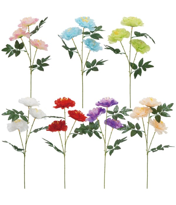 "24""/3-head flower astd clr 72s"