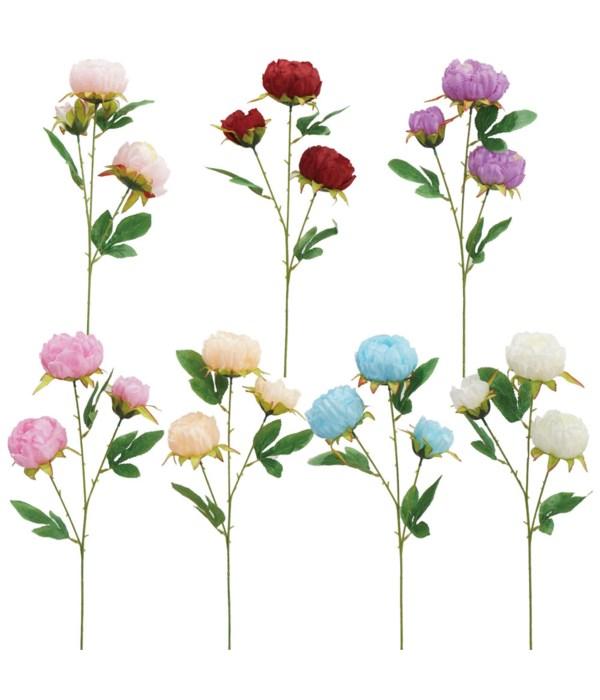 "28""/3-head flower astd clr 72s"