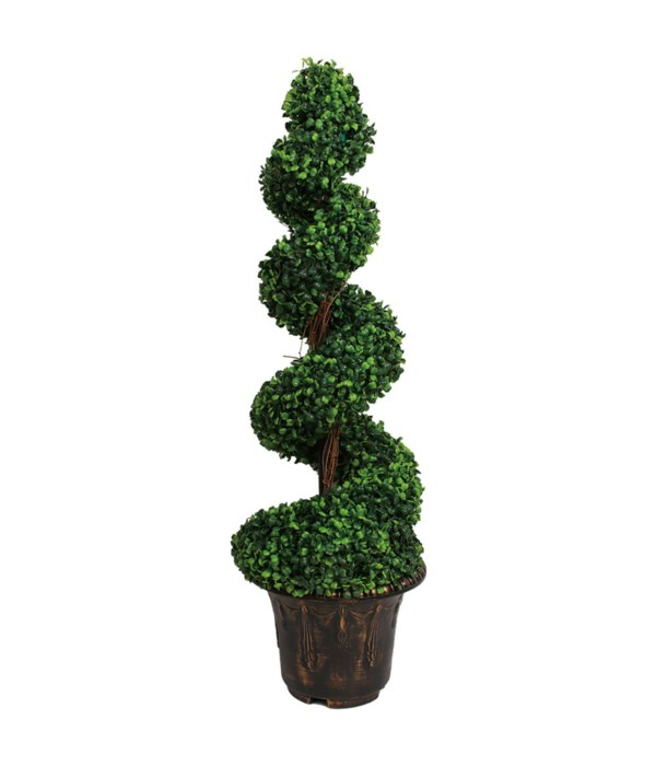artificial boxwood spiral tree