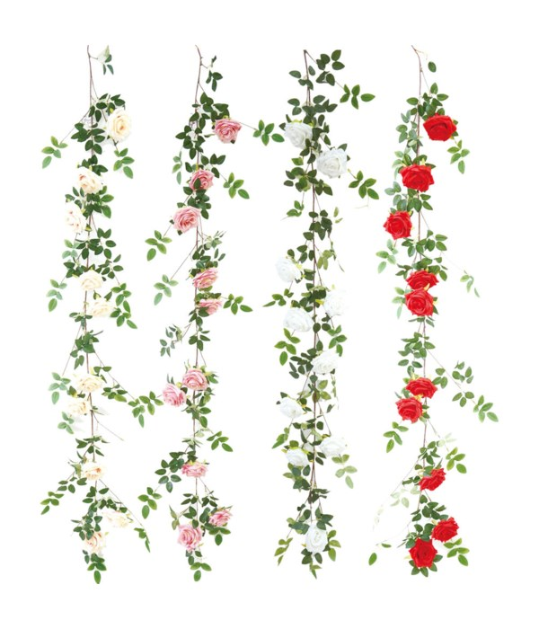 "68"" 10-roses vine astd 24/120s"