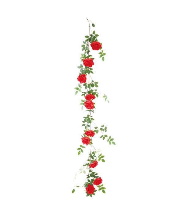 """68"""" 10-roses vine red 24/120s"""