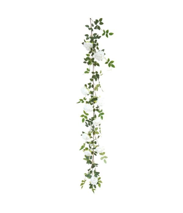 """68"""" 10-roses vine white 24/120"""