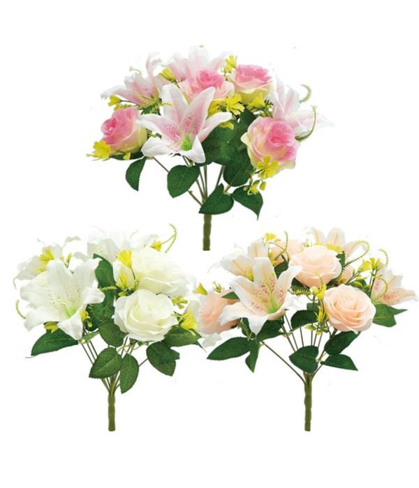 "16"" rose+lily astd clr 24/144s"