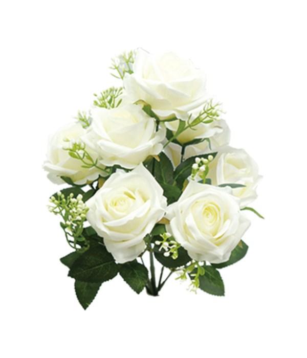 """16"""" 9-roses white 24/96s"""