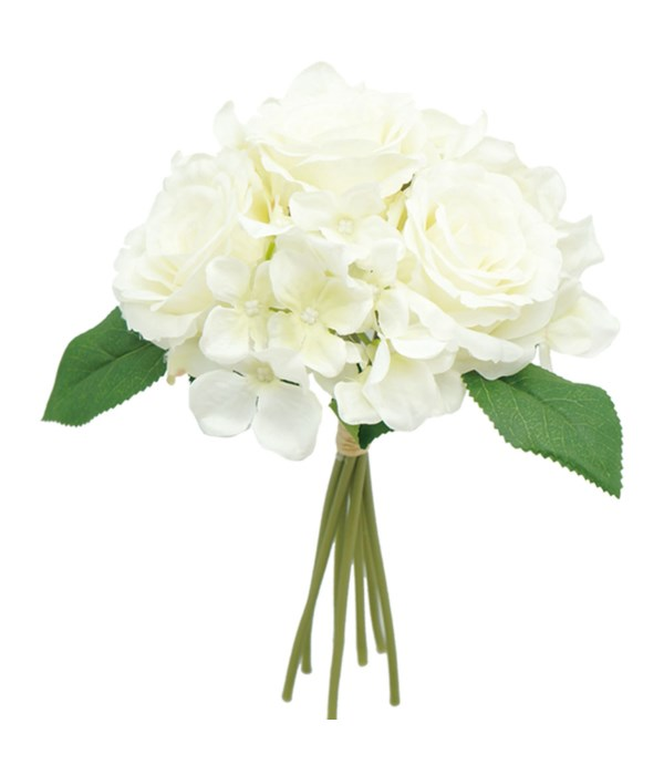 "12"" bouquet white 24/120s"