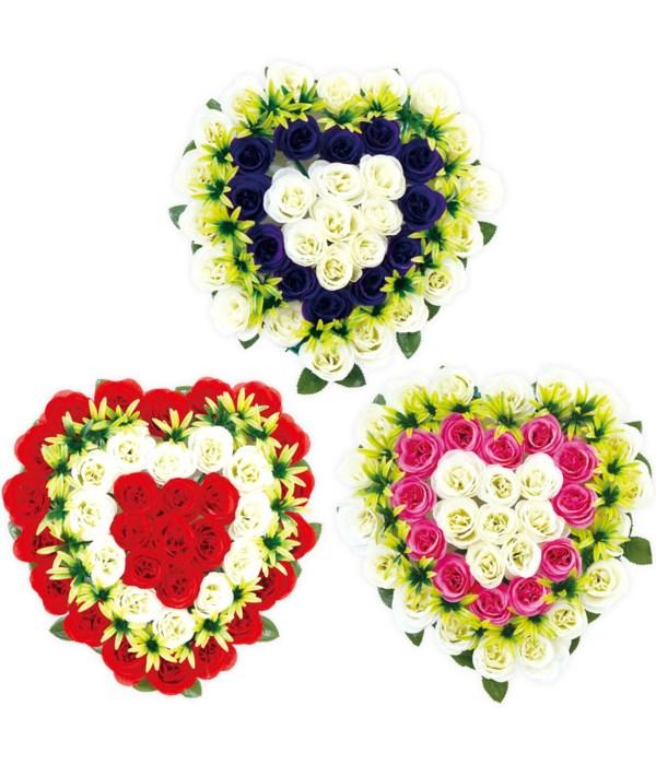 "16"" flower wreath 6/48s"