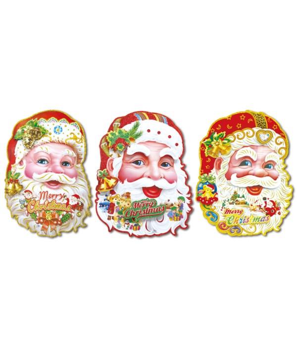 """22""""santa 3D cutout 12/144s"""