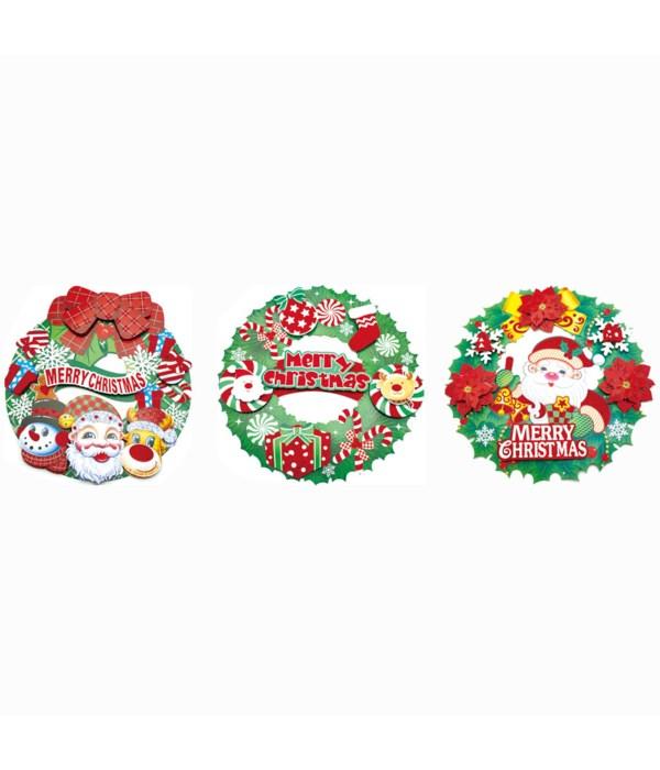 xmas 3D-cutout wreath 12/144