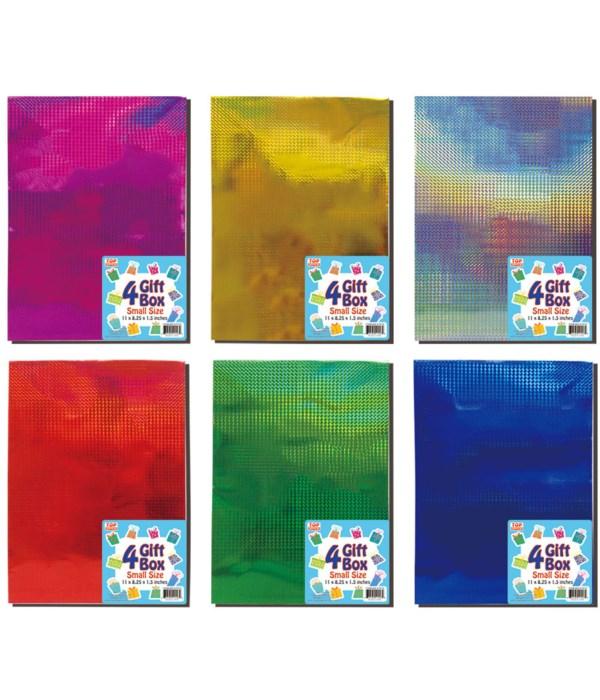 """4pc holo box 11x8.25x1.5""""/S 48"""