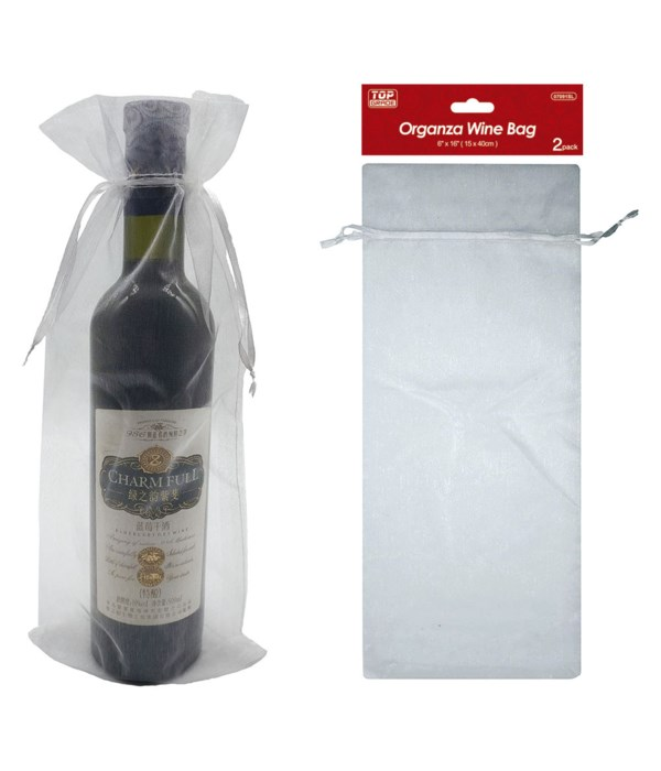"fabric wine bag 16x6"" 12/600s"