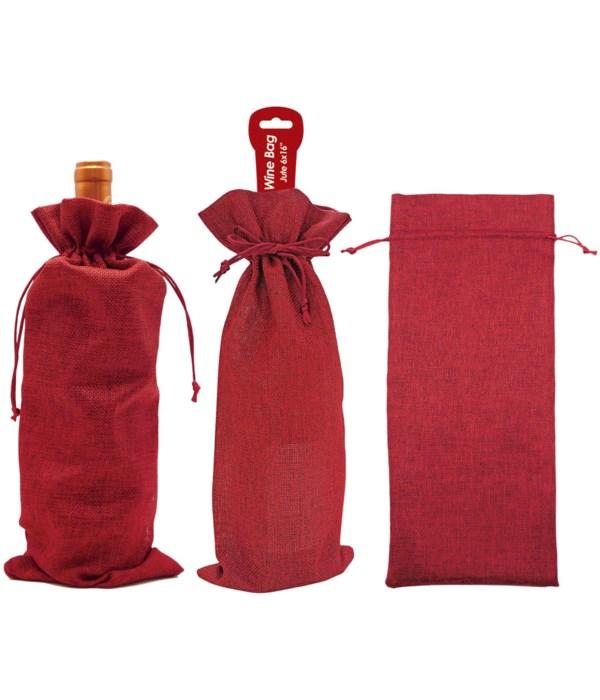 "fabric wine bag 16x6"" 12/360s"