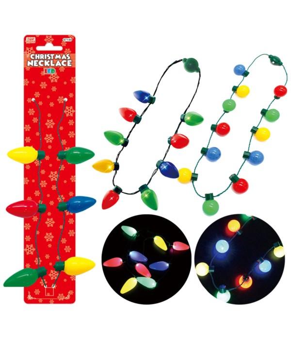 x'mas LED necklaces 24/144s