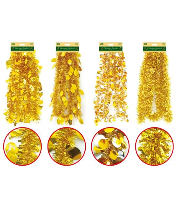 x'mas garland gold 9ft/72s