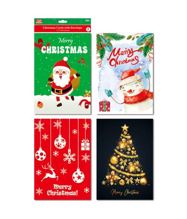 x'mas cards w/envelopes 48s