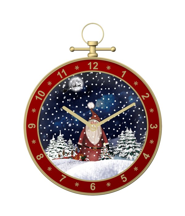 """19""""snowing musical clock/red 3"""