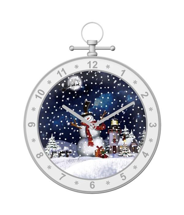 "19""snowing musical clock/wt 3s"