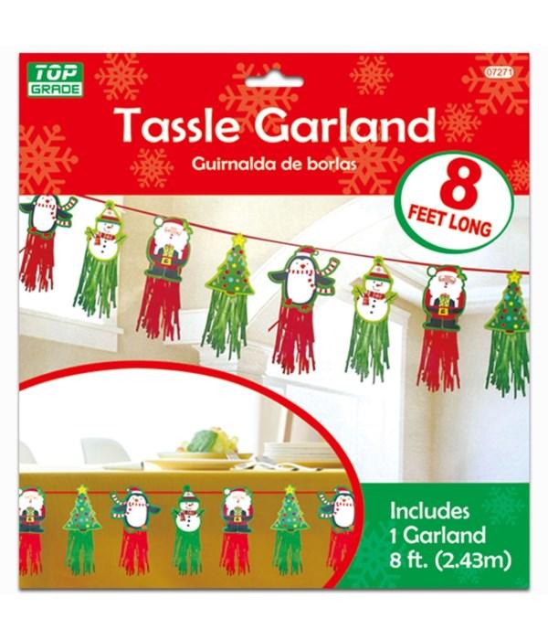 x'mas tassle garland 12/144s