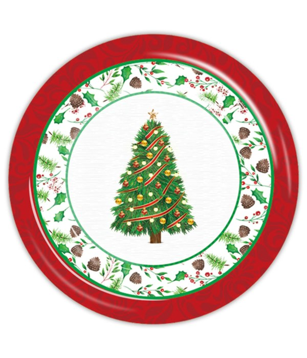 """7""""/8ct xmas pp plate 24/144s"""