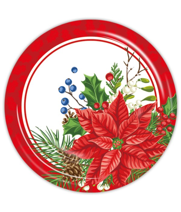 """9""""/8ct xmas pp plate 24/144s"""