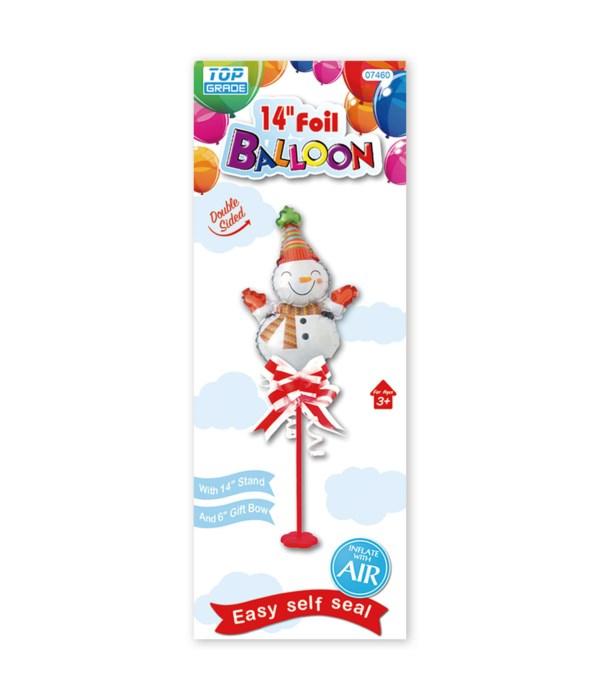 """14"""" x'mas foil balloon 12/120s"""