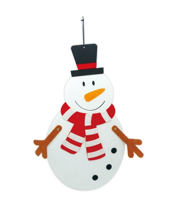 "hanging snowman 14x10"" 12/48s"