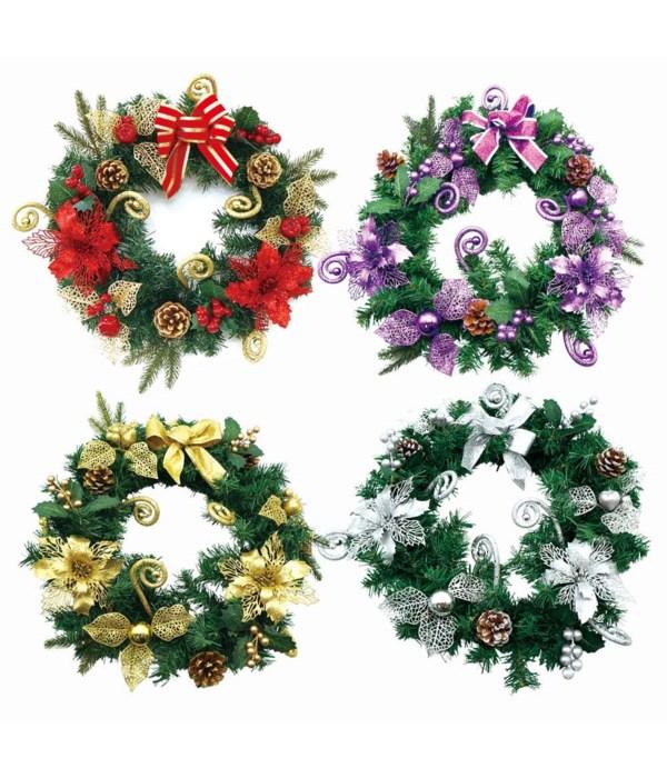 "x'mas wreath 20""/12s"