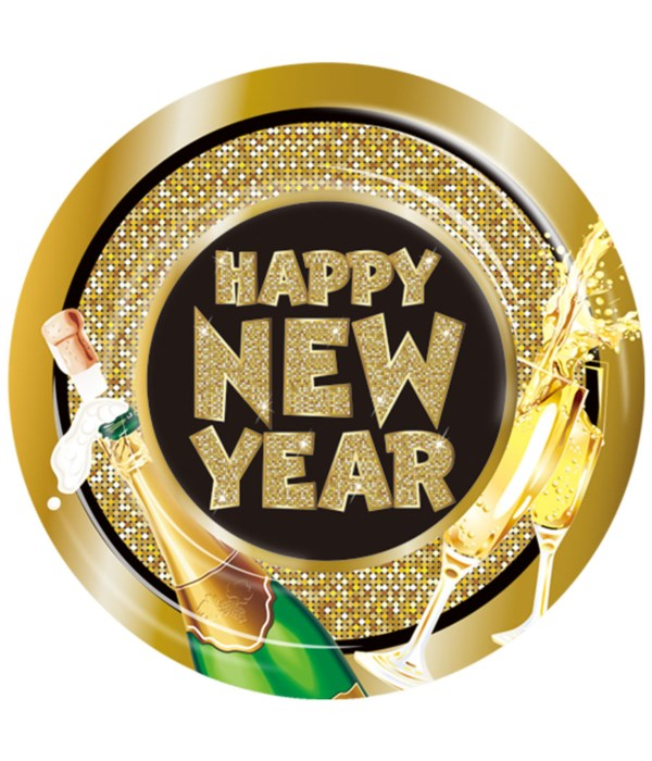 """9""""/8ct new year plate 24/144s"""