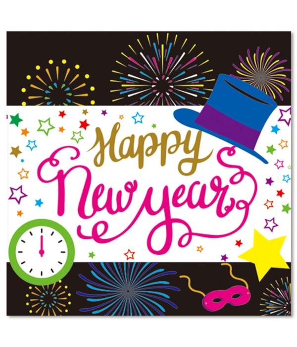 new year beverage napkin24/144