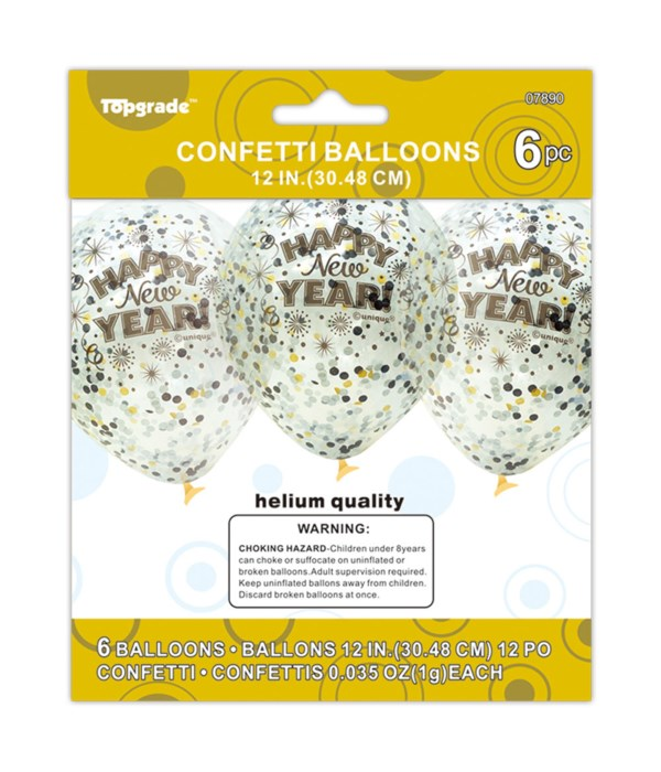 6ct clear balloon 12/240s