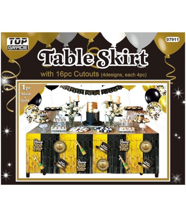 """table skirt 9.2ftx29"""" 24/144s"""