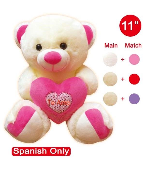 """#08135 11"""" bear w/heart 12's"""