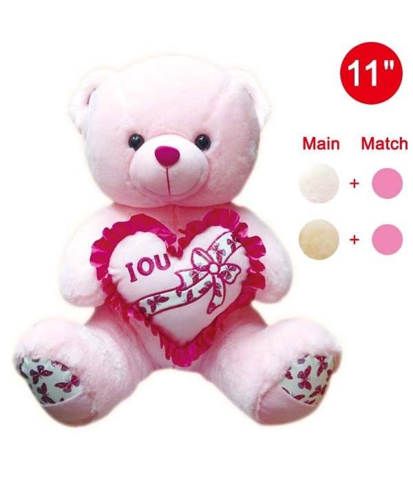 """11"""" bear w/heart 12's"""