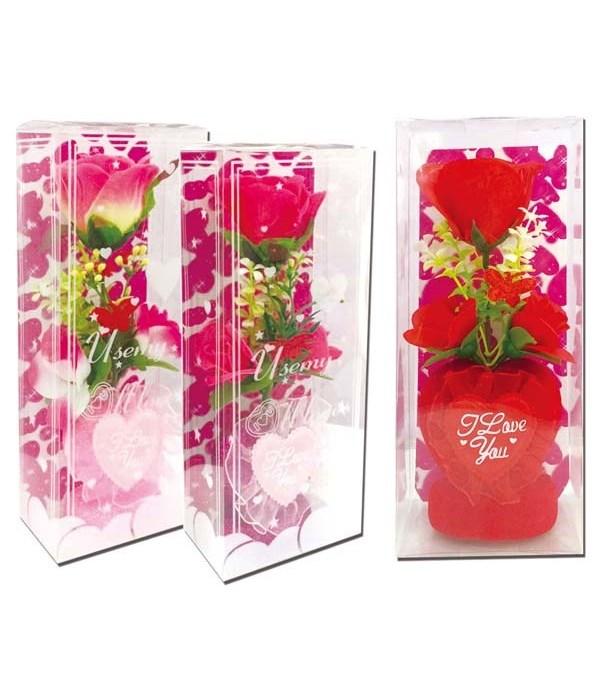 v-day rose+heart 48s
