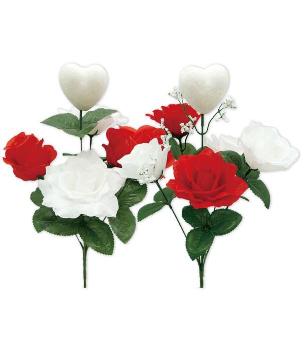 """14"""" flower+foam heart 48s"""