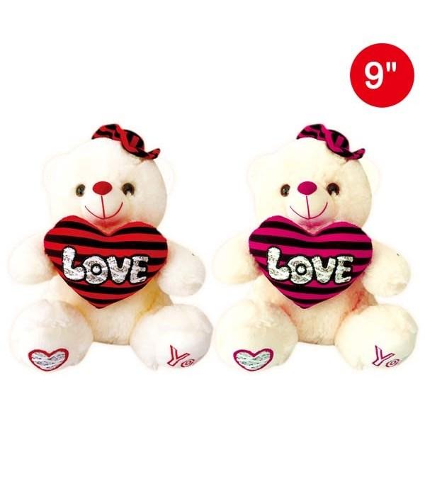 "9"" bear w/gift box 24s"
