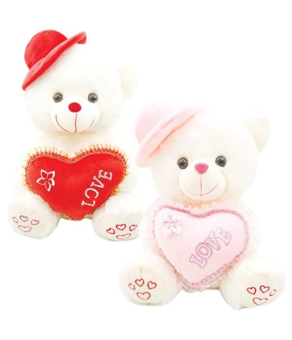 """12"""" bear w/heart 12s"""