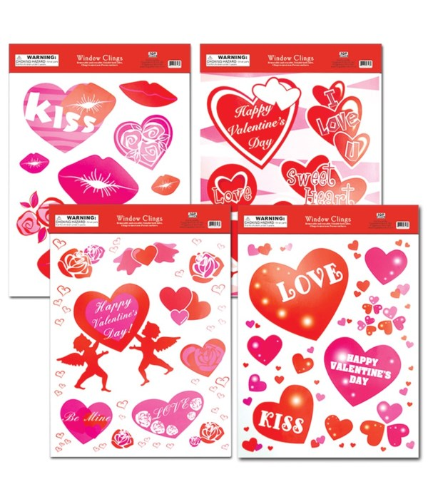v-day window cling 48/288s