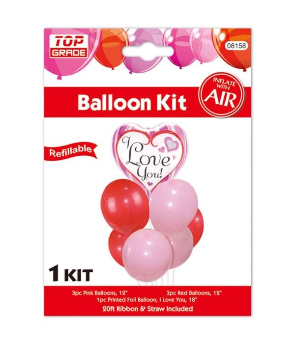 7pc balloon set heart 12/300s