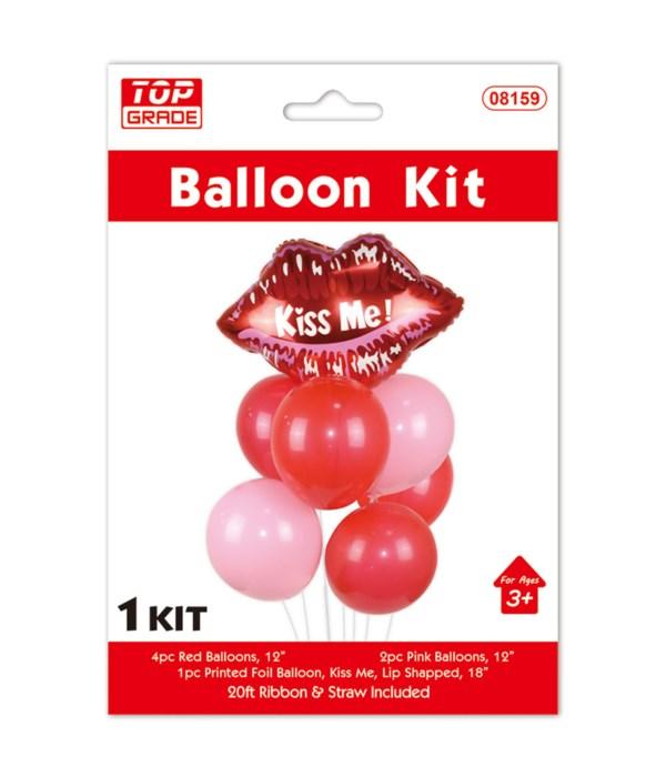 7pc balloon set lip 12/300s