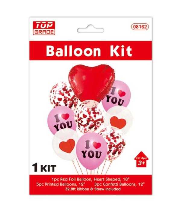 9pc V-day balloon set 12/300s
