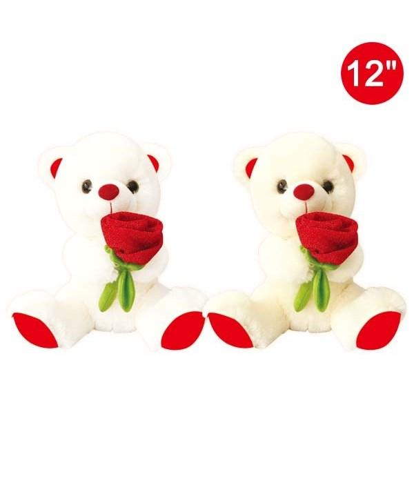 "12"" bear w/rose 12s"