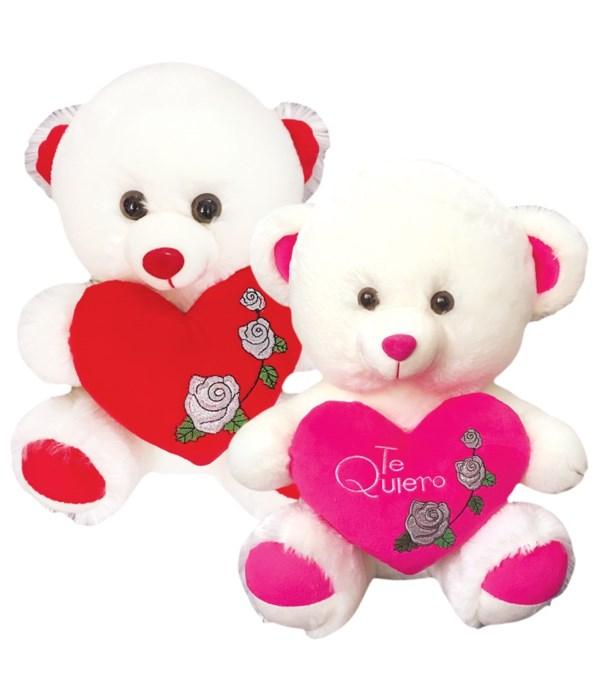 """16"""" bear w/heart 12s"""